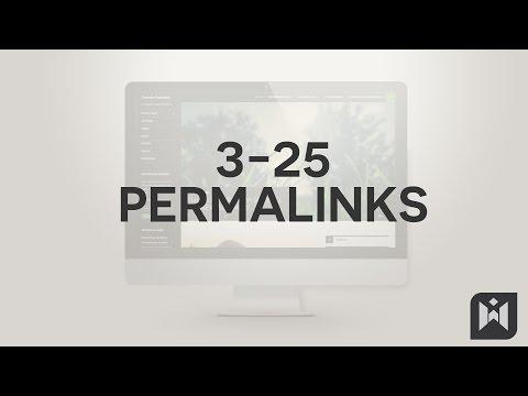 WordPress for Beginners 2015 Tutorial Series | Chapter 3-25: Permalinks