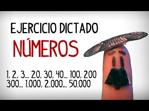 Practice numbers in Spanish, dictation exercise