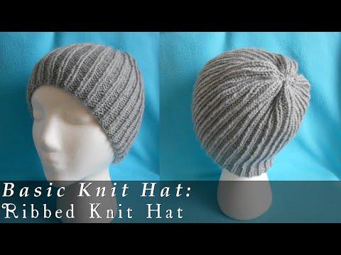 Basic Ribbed Beanie { Knit }