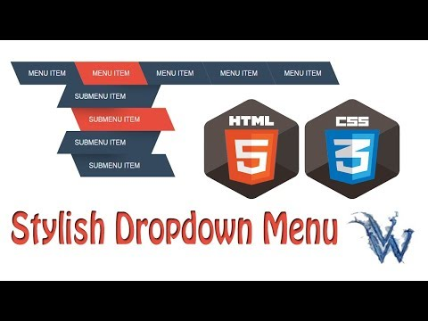 learn html and css | HTML Stylish Drop Down Menu | Drop Down Menu in html Amazing Techno Tutorials