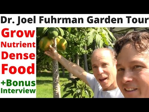 Growing Nutrient Dense Food with Dr. Joel Fuhrman - Tour His Garden