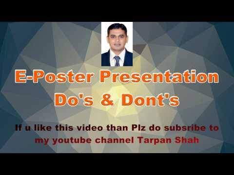 E Poster Presentation