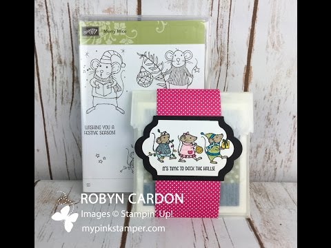 How to make a Belly Band with Stampin' Up! Merry Mice Stamp Set