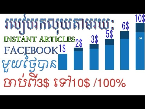 How to increase your Instant Aricles facebook CPM 3$ to 10$ per day,rank facebook cpm khmer