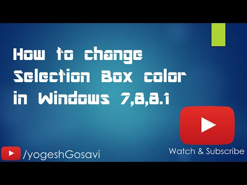 [Tutorial] How to change Selection Box color in Windows 7,8,8.1 [Windows][Registry Editor]