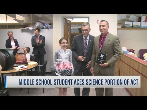 Middle school student offered full ride scholarship