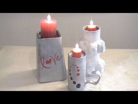 How to Make Easy Paper Mache Candle Holders