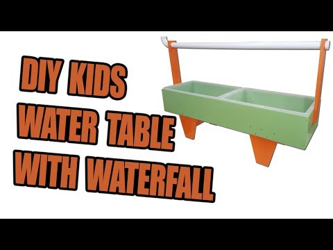 DIY Kids Water Table with Waterfall Feature