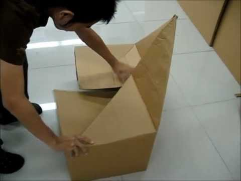 FLUGEL Folding cardboard chair.wmv