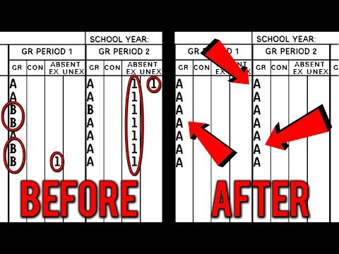 How To Change Your School Report Card! - Straight A's!
