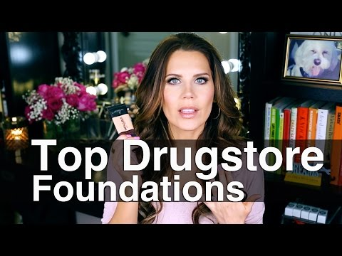 TOP 5 DRUGSTORE FOUNDATIONS + 3 bad ones || GlamLifeGuru