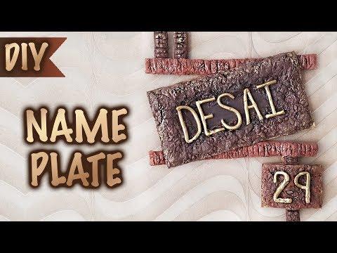 How to make a Name Plate   DIY Hand Made Paper Mache   Home Decor   Kreena Desai