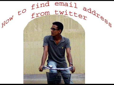 How to find email address from twitter