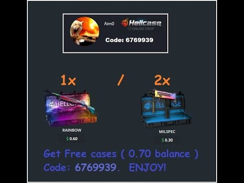 Hellcase Trade url guide and promo code for free skins.