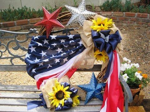 Flag Wreath with Stars ~ Featuring Miriam Joy