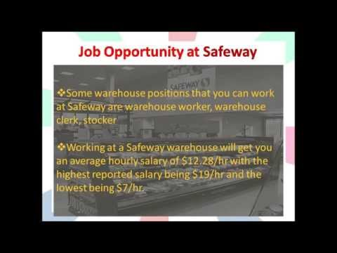 warehouse job opportunities at Safeway