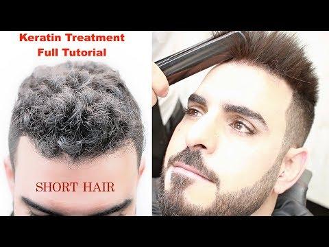 KERATIN TREATMENT FOR SHORT HAIR★HAIR STRAIGHTENING    CURLY HAIR ★HAIRSTYLES TUTORIAL / viral✔️