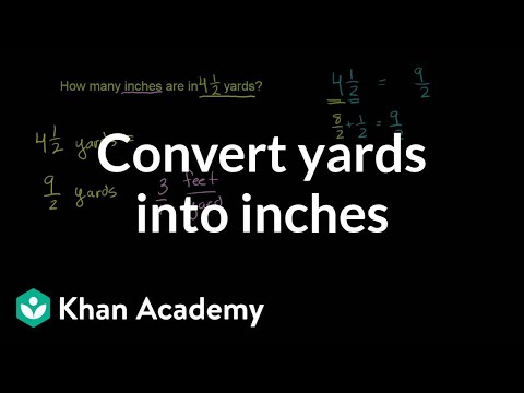 Converting yards into inches | Ratios, proportions, units, and rates | Pre-Algebra | Khan Academy