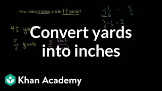 Converting Yards Into Inches Ratios Proportions Units And Rates Pre A