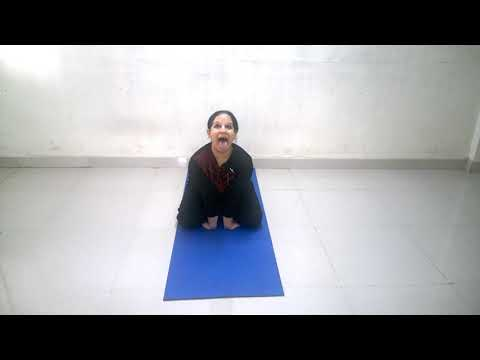Simhasana or (Lion Pose) for Strengthening Vocal cords Facial muscles Nervous and Digestive system