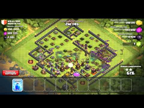 Clash of Clans - 1000 Lightning Spells Attack - #1 Player 100%