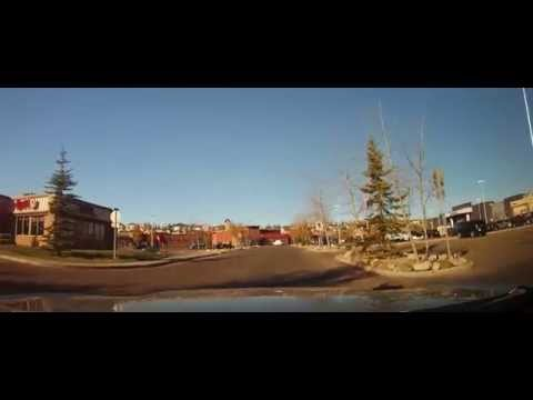 Driving from Panorama Hills to the Calgary Airport Parking Garage in Canada