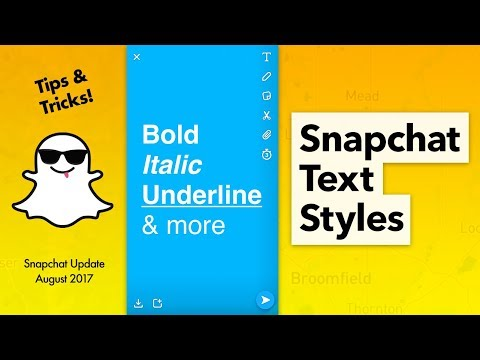 How to Change Text Styles on Snapchat