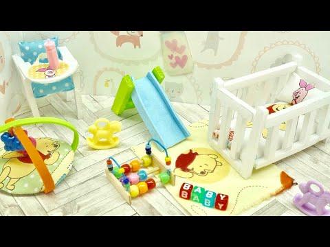 DIY Miniature DISNEY POOH Nursery Baby Room! Crib, Toy, High Chair & More! NOT A KIT