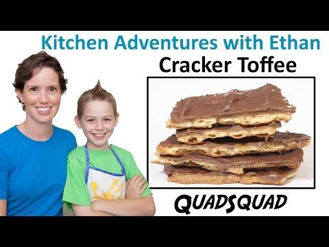 Best Ever Cracker Toffee - Kitchen Adventures with Ethan