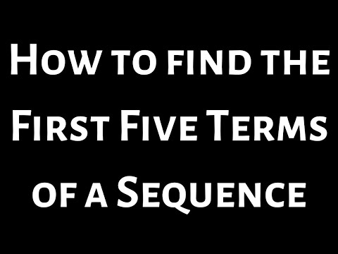 Finding the first five terms of a sequence Example 2
