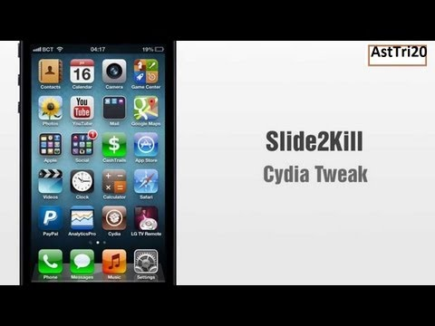 Cydia Tweak :-Slide2Kill  For iPhone 5/4s/4/3Gs On Running iOS 6.0/6.0.1/6.1.1/6.1.2/6.1.3