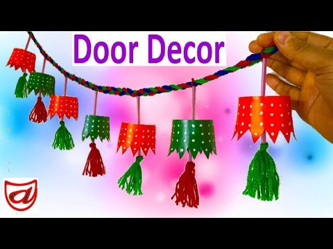 DIY Door Hangings from Disposable Paper Cup | Valentine Day Door Decor with Disposal Tea Glass