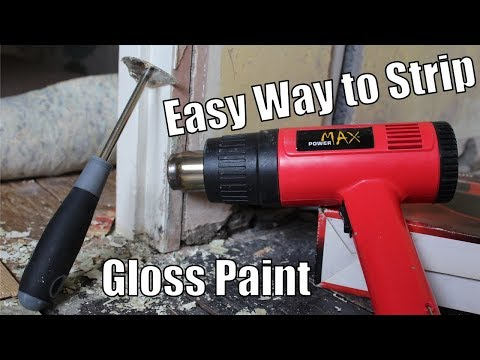 How to strip gloss paint off wood - Easy way to remove gloss from door frames and skirting