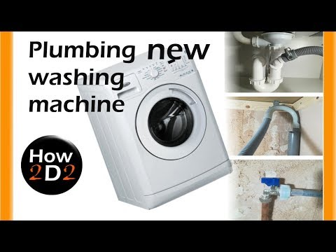 new washing machine  plumbing installation water supply and waste