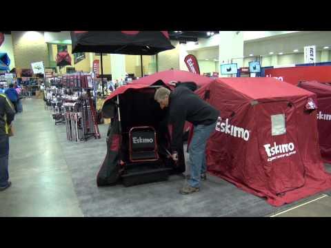 Eskimo Wide One Portable Flip Over Ice Fishing Shelter