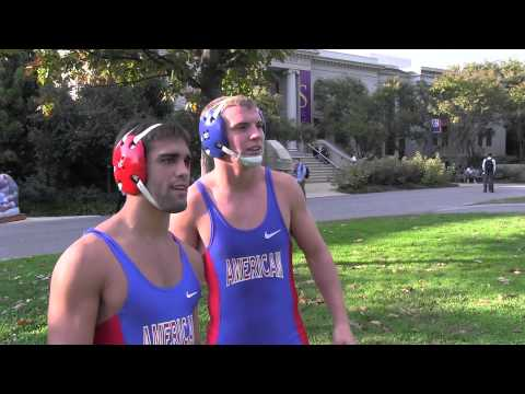 American University Wrestling Hosts Grapple in the Grass