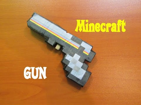 How to Make a MineCraft Gun that shoots rubber bands - Easy Tutorials