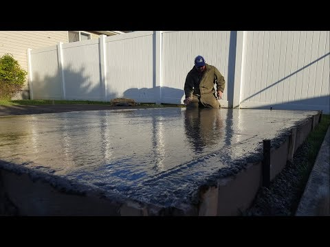 Pouring the Slab for the Air Crete Shed
