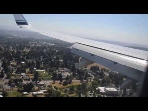 Alaska Airlines 737-800 Landing in Seattle (View of Concorde)