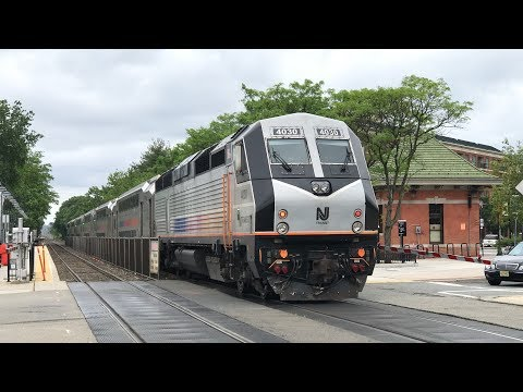 NJ Transit HD 60fps: Sunday Morning PL42AC Action on Bergen County Line @ Rutherford (6/3/18)
