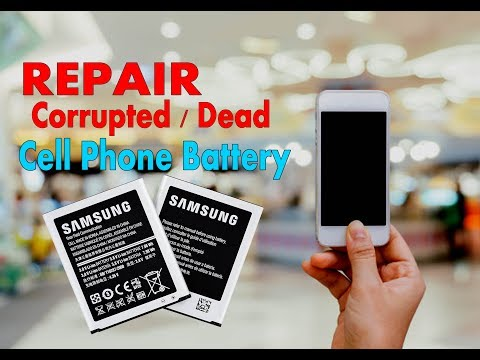 how to repair corrupted cell phone battery free