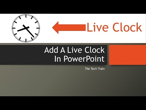 Add A Live Clock In Microsoft PowerPoint
