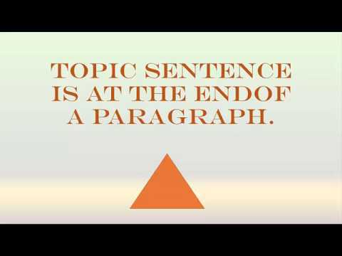 topic sentence end of paragraph