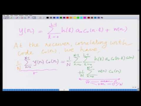 Lecture 32: Multipath Diversity in CDMA Systems