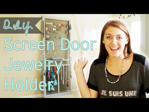 D.I.Y. | Screen Door Jewelry Holder | Stuff Jenna Does