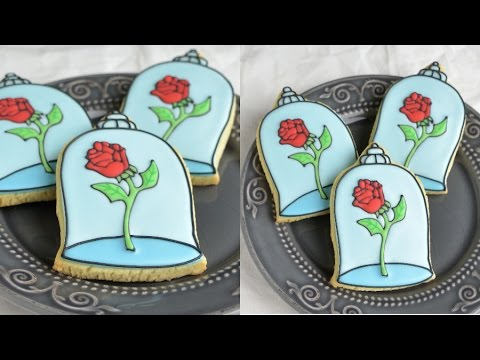 BEAUTY AND THE BEAST ENCHANTED ROSE COOKIES, HANIELA'S