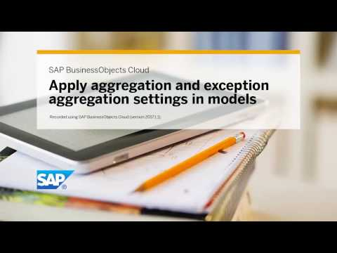 Apply aggregation and exception aggregation settings in models: SAP BusinessObjects Cloud (2017.1.1)
