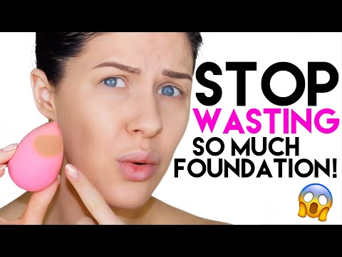 HOW TO STOP YOUR BEAUTY BLENDER ABSORBING/WASTING SO MUCH PRODUCT!!!