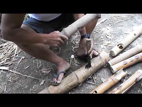 Making a  Bamboo Joint by Hand - Filipino Craftsman