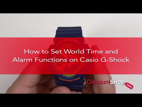 HOW TO: Set World Time & Alarms on Casio G-Shock Watches